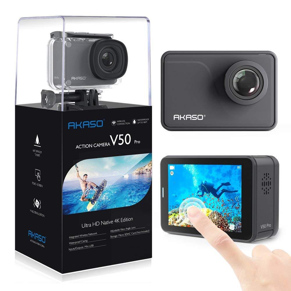 AKASO V50 Native 4K:30fps 20MP WiFi Action Camera